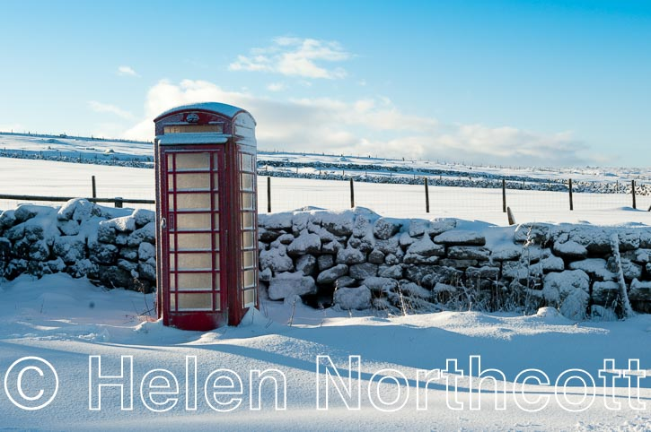 Dartmoor Rundlestone Red Telephone Box