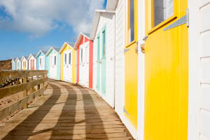 Dartmoor Photographer - Things to Photograph in Autumn - Beach Huts