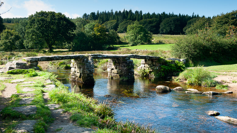 Dartmoor Photographer -Postbridge Clapper Bridge