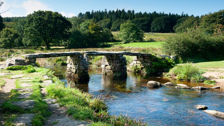 Dartmoor Photographer -Postbridge Clapper Bridge
