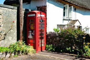 Dartmoor Red telephone Box Sticklepath