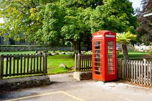 Widecombe in the Moor - Red Telephone Box
