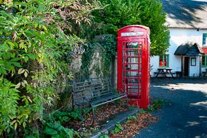 Sandy Park Dartmoor Phone Box