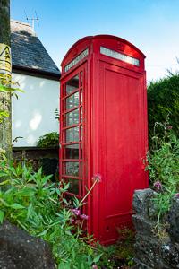 Red Phone Box Combe Dartmoor