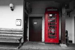 Dartmoor Red Phone Boxes - Plume of Feathers