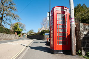 Moretonhampstead red telephone Box